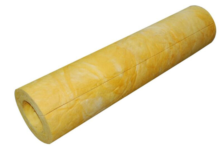 Seam glass wool pipe section