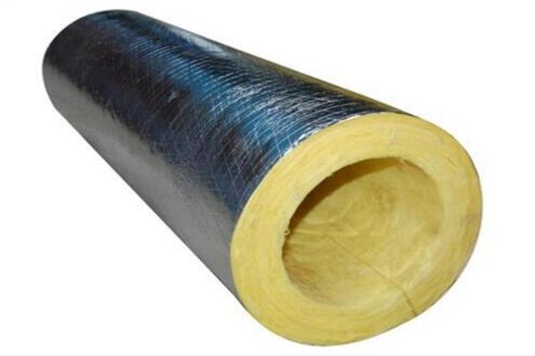 Reforced FSK facing glass wool tube section
