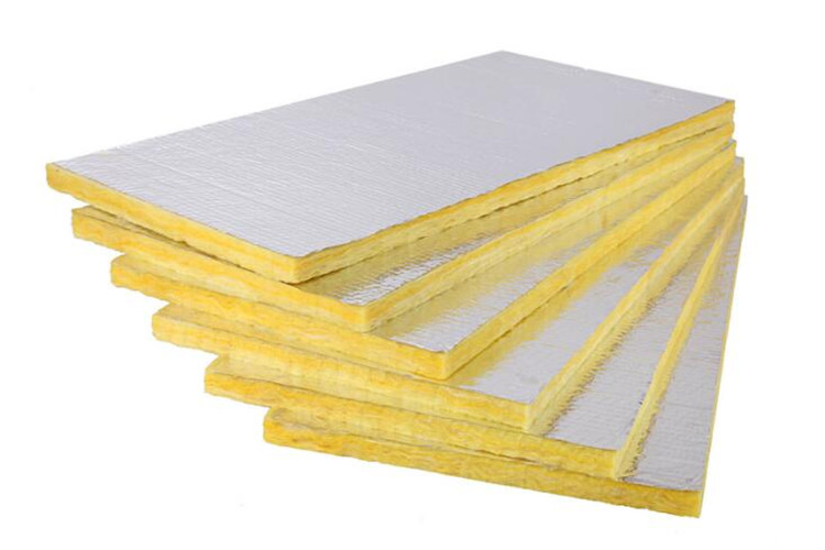 Fireproof aluminum foil glass wool board