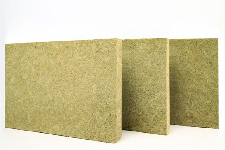 Vertical silk fiber rock wool board