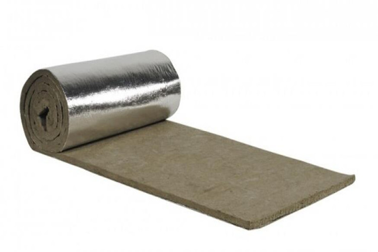 Rock wool blanket with plain aluminum foil