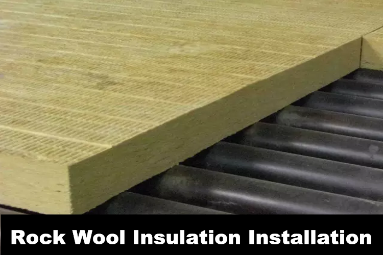 Rock wool insulation installation
