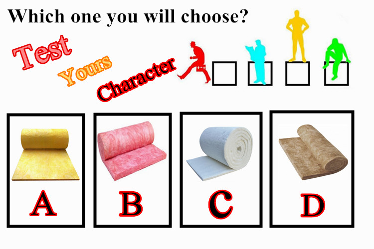 Choose insulation material to test yours character