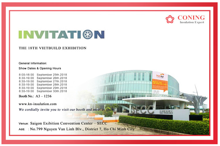 CONING Vietbuild Exhibition in 2018